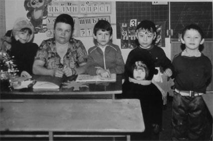 Нина Сергеевна с учениками